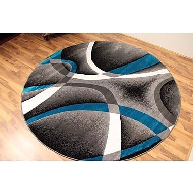 Persian-rugs Tobis Turquoise/Gray Indoor/Outdoor Area Rug; 4' x 5'
