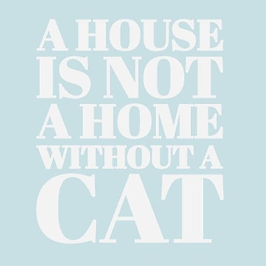 SweetumsWallDecals 'A House Is Not a Home Without a Cat' Wall Decal; White