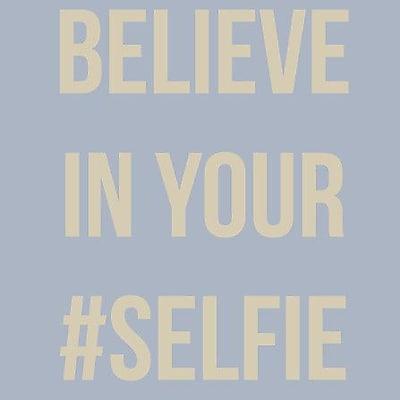 SweetumsWallDecals 'Believe in Your Selfie' Wall Decal; Beige