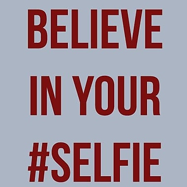 SweetumsWallDecals 'Believe in Your Selfie' Wall Decal; Cranberry