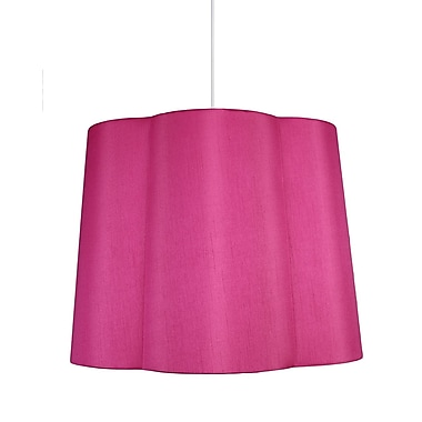 Urbanest Imani 1-Light Drum Pendant; Fuchsia