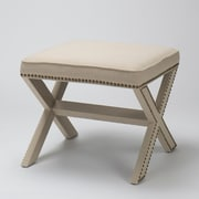 The Bella Collection Luna Ottoman; Birch