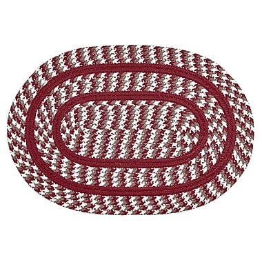 Better Trends Crescent Braided Red Indoor/Outdoor Area Rug; Runner 2' x 6'