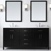 Ove Decors Tahoe 72'' Double Bathroom Vanity Set w/ Mirror in Espresso