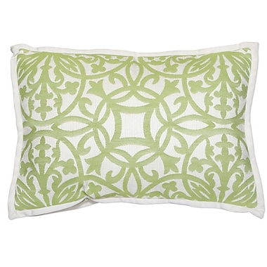 PeakSeason Wickham Gate Outdoor Sunbrella Flange Lumbar Pillow (Set of 2)