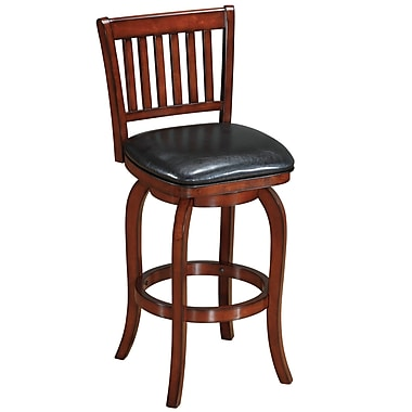 RAM Game Room Backed 29'' Swivel Bar Stool; English Tudor