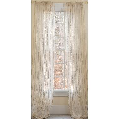 Manor Luxe Tafetta Stripe Sheer Window Single Curtain Panel; 52'' W x 96'' L