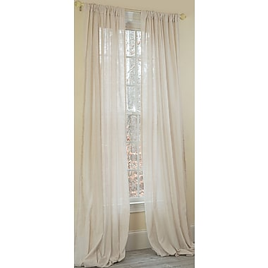 Manor Luxe Gloucester Sheer Window Single Curtain Panel; 52'' W x 108'' L