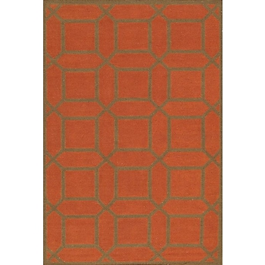 Pasargad Kilim Hand-Woven Rust/Brown Area Rug; 8'9'' x 11'9''