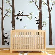 SimpleShapes Tree w/ Pandas Wall Decal; Brown/Blue