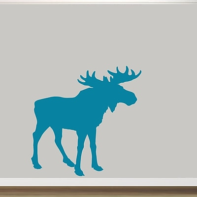 SweetumsWallDecals Moose Silhouette Wall Decal; Teal