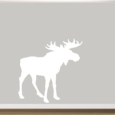 SweetumsWallDecals Moose Silhouette Wall Decal; White