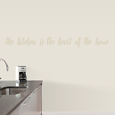 SweetumsWallDecals The Kitchen is the Heart of the Home Wall Decal; Beige