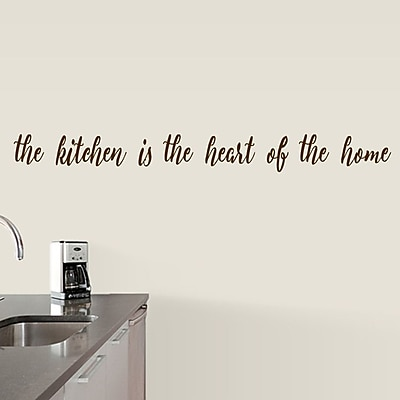 SweetumsWallDecals The Kitchen is the Heart of the Home Wall Decal; Brown
