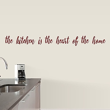 SweetumsWallDecals The Kitchen is the Heart of the Home Wall Decal; Cranberry