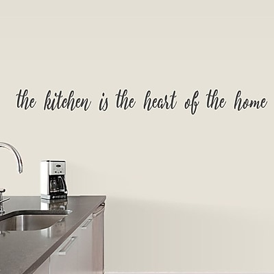 SweetumsWallDecals The Kitchen is the Heart of the Home Wall Decal; Dark Gray