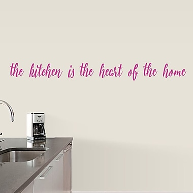 SweetumsWallDecals The Kitchen is the Heart of the Home Wall Decal; Hot Pink