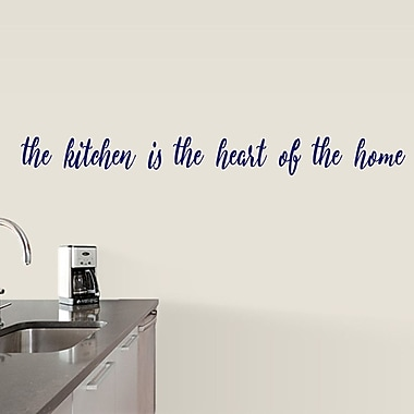 SweetumsWallDecals The Kitchen is the Heart of the Home Wall Decal; Navy
