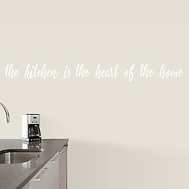 SweetumsWallDecals The Kitchen is the Heart of the Home Wall Decal; White