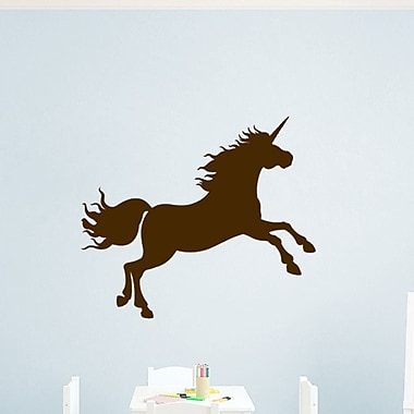 SweetumsWallDecals Unicorn Silhouette Wall Decal; Brown
