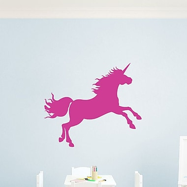 SweetumsWallDecals Unicorn Silhouette Wall Decal; Hot Pink