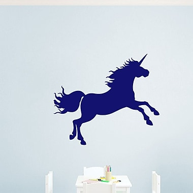SweetumsWallDecals Unicorn Silhouette Wall Decal; Navy