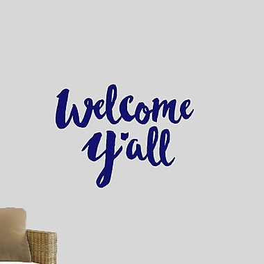 SweetumsWallDecals Welcome Y'all Ohio Wall Decal; Navy
