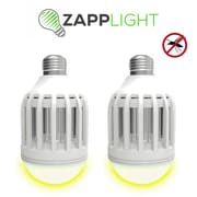 Zapplight Dual LED Lightbulb & Bug Light Zapper, 2/Pack