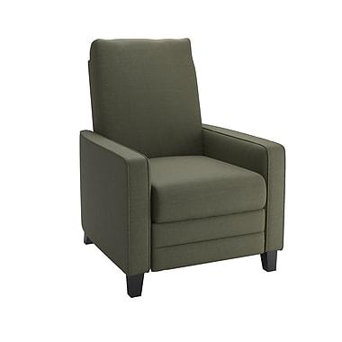 CorLiving – Fauteuil inclinable en tissu Kelsey LZY-434-R, vert militaire