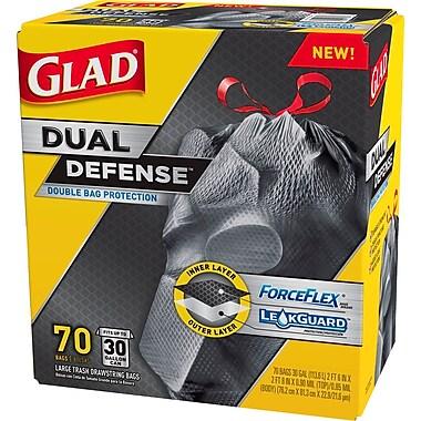 Glad® ForceFlex™ Stretchable Trash Bags, 30 Gallon, 70 Bags/Box