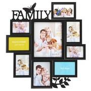 Kiera Grace – Cadre photos pour collage Famille, 21 1/2 po x 23 1/2 po, 9 ouvertures