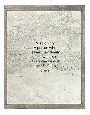 Forest Creations 'Missionary' Framed Textual Art