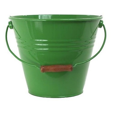 Houston International Enameled Galvanized Fun Bucket; Apple Green