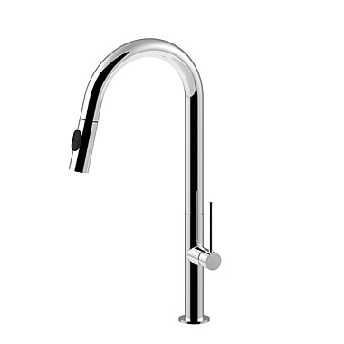 WS Bath Collections Chef Pull Out Single Handle Kitchen Faucet