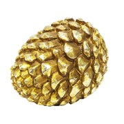 Gold Eagle USA Pinecone Table Top D cor; Gold