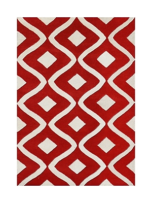Alliyah Rugs New Zealand Handmade Red Area Rug