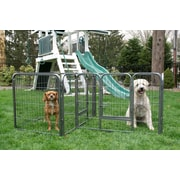 Iconic Pet 28'' Heavy Duty Double Divided Tube Dog Pen