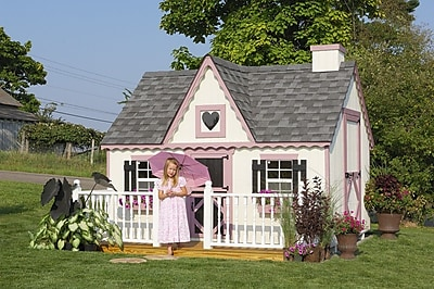 Little Cottage Company Victorian 8x8 Playhouse; 10' W x 8' D