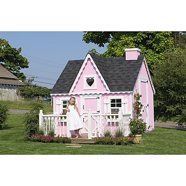 Little Cottage Company Victorian 8x8 Playhouse; 8' W x 8' D
