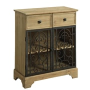 Darby Home Co Shaws Raw Wood 2 Drawer 2 Door Accent Cabinet