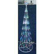 LB International 7' Multi Colored Bubble Cone Light Christmas Tree...