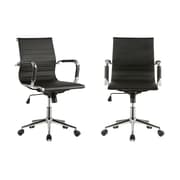 AttractionDesignHome Ergonomic Ribbed High Back 16.64'' Mesh Desk Chair (Set of 2)