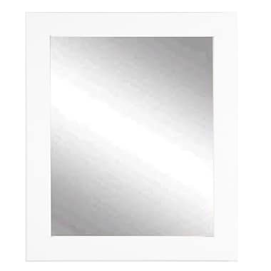 American Value Vision in White Vanity Wall Mirror; 38.5'' H x 32'' W x 0.75'' D
