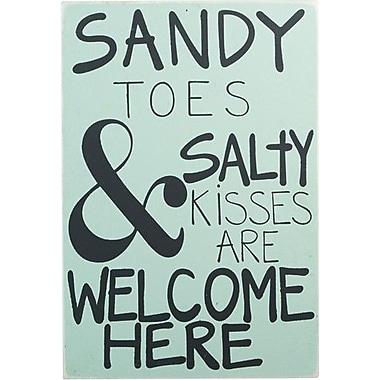 Glory Haus Sandy Toes Sea Green Board Textual Art