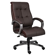 Boss Double Plush High Back Executive Chair, Brown (B8771P-BN)