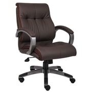 Boss Double Plush Mid Back Executive Chair (B8776P-BN)