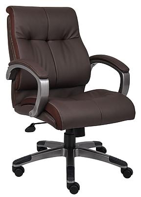 Boss Double Plush Mid Back Executive Chair (B8776P-BN)