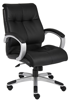 Boss Double Plush Mid Back Executive Chair (B8776S-BK)