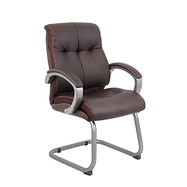 Boss Double Plush Executive Guest Chair - Bomber Brown (B8779P-BN)