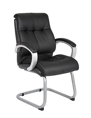 Boss Double Plush Executive Guest Chair - Black (B8779S-BK)